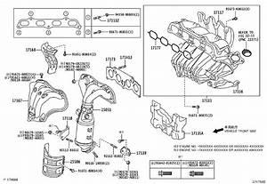 2007 Toyota Camry Exhaust Manifold Brace  Stay  Manifold