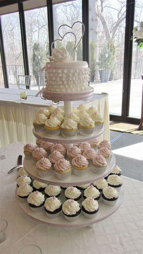 wedding cupcake tower    small wedding cake