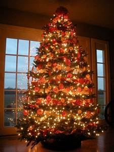 35, Orange, Theme, Christmas, Tree, Decorations, Ideas