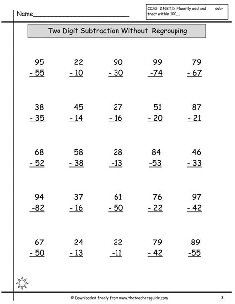 second grade addition worksheets column year free