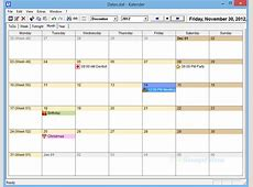 UK`s Kalender calendar with ToDo and reminders