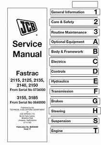 Jcb 2115  2125  2135  2140  2150  3155  3185 Fastrac