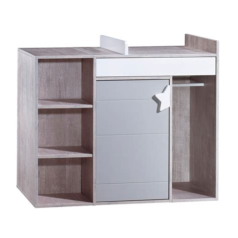 commode de bureau commode à langer évolutive en bureau gris de sauthon easy