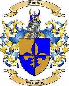 Free Genealogy Family Tree Charts Hoover Family Crest From Germany By The Tree Maker