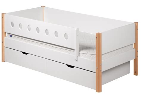 Drawers With Rails by Single Bed White With Rails And Drawers