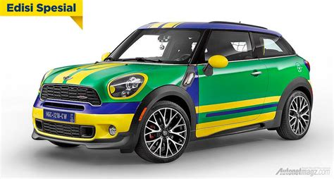 Gambar Mobil Mini Cooper Blue Edition by Mini Cooper Special Edition World Cup 2014 Autonetmagz