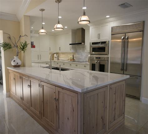 driftwood color kitchen cabinets white kitchen with driftwood peninsula home bunch 6968