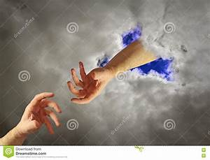 Hand of god help stock image. Image of life, image, help ...