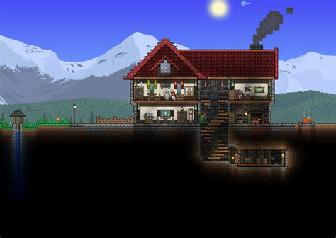 minecraft bathroom ideas home fully furnished with mountain view terraria