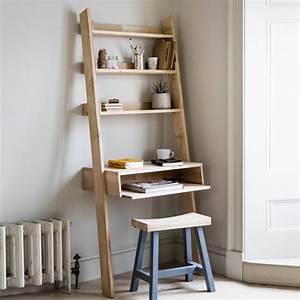 Bureau Avec étagère : bureau mural avec niche et 3 tag res en ch ne naturel hambledon decoclico ~ Preciouscoupons.com Idées de Décoration
