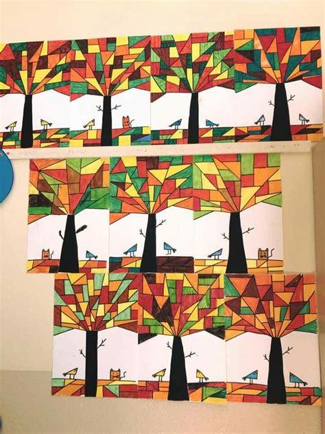 Herbstdeko Fenster Klasse 1 by Pin B B Auf Bildnerische Erziehung