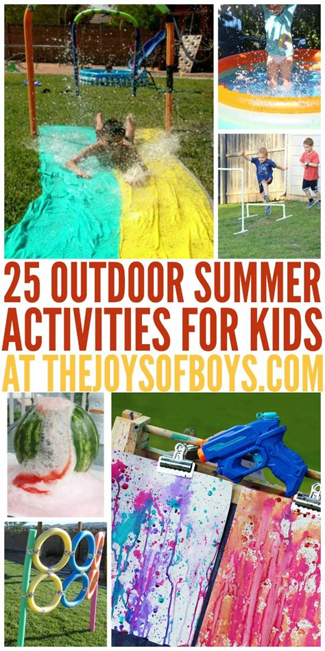 25 Outdoor Summer Activities For Kids