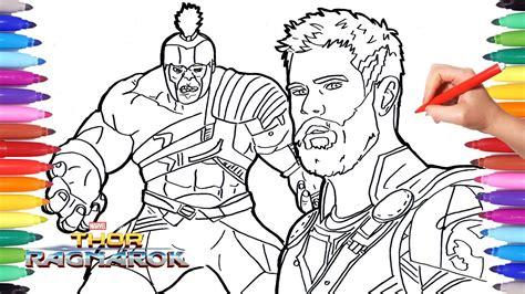 thor ragnarok  hulk coloring pages   draw hulk