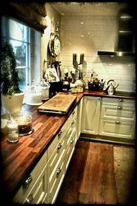 French Kitchen Images Gas Cooktop Butcher Block Countertop