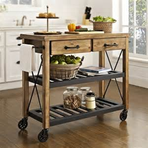 kitchen islands carts shop crosley furniture rustic kitchen cart at lowes