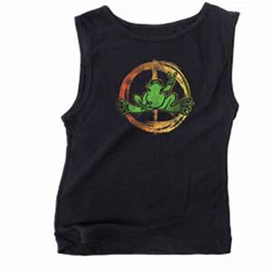 Peace Frogs Junior Neon Peace Sign Tank Top Women Short