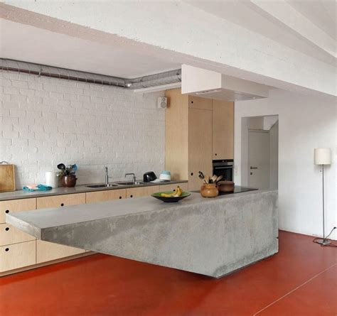 modern kitchen island ideas go beyond the common aesthetics with concrete kitchen islands