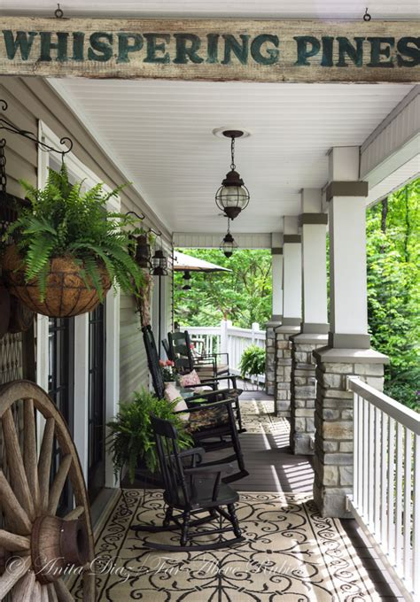 Southern Style Porches by Far Above Rubies Southern Porch With Vintage Farmhouse Style