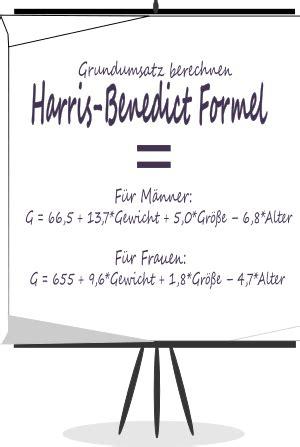harris benedict formel grundumsatz ganz einfach berechnen
