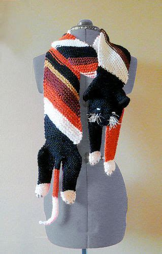 knitted cat scarf pattern  video tutorial