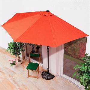 Halbrunder balkon sonnenschirm von gartner potschke for Französischer balkon mit sonnenschirm 200