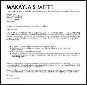 Assistant marketing manager cover letter sample livecareer for Director of marketing cover letter