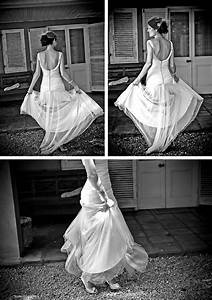 light and flowy wedding dress with low back and button With light flowy wedding dresses