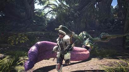 Hunter Monster Pukei Screenshots Armor Palico Mhw