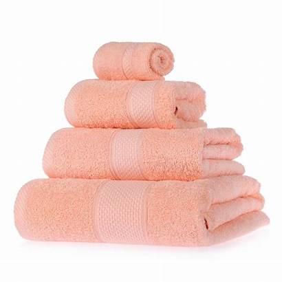 Towels Peach Cotton Bath Turkish Towel