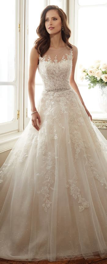sleeveless misty tulle full   gown sophia tolli