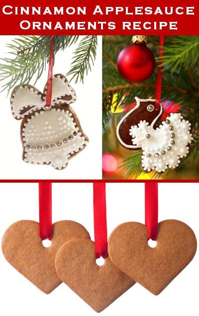 cinnamon applesauce ornaments recipe christmas pinterest