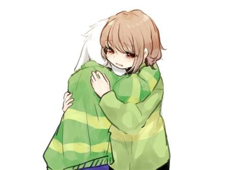 Undertale Images Chara And Asriel Hugging Each Other Hd