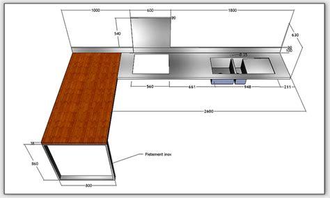 largeur d un plan de travail cuisine largeur plan de travail cuisine awesome marvelous largeur