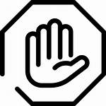 Stop Icon Hand Icons Line Construction Hour