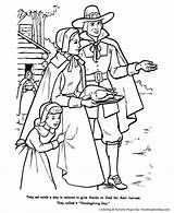 Thanksgiving Coloring Pages Feast Pilgrim Pilgrims Printable Turkey God Thanks Honkingdonkey Printables Holiday Religious Print Pilgram Go Give November sketch template