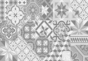Stickers Imitation Carreaux De Ciment : set de table carreaux de ciment l on gris tourterelle ~ Melissatoandfro.com Idées de Décoration
