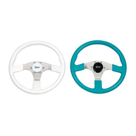 Gaffrig Boat Steering Wheel by 9640 02 Steering Wheel Pvc With Polished Spoke