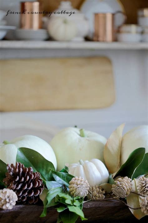minute decorating simple dough bowl full  pumpkins french country cottage