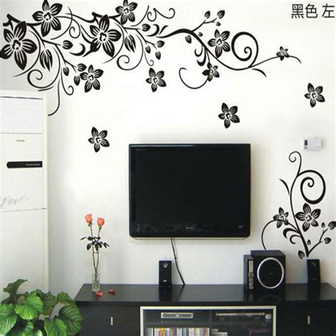 stickers chambre parentale vine wall stickers flower wall decal removable pvc