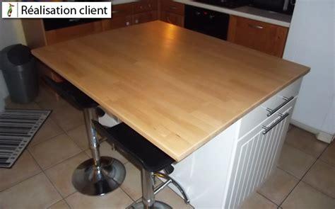 ilot cuisine avec table ilot central de cuisine sur mesure le du bois