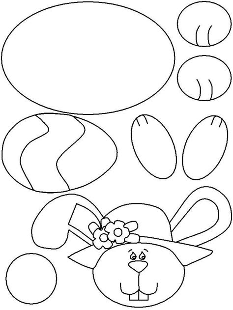 easter bunny cut out template 89047 bunny template