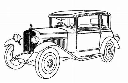 Coloring Classic Pages Value Cars Antique Printable