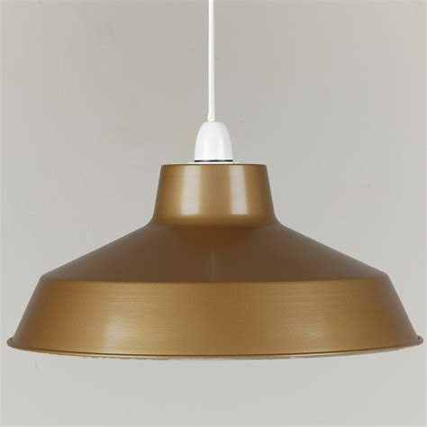 large dual fitting pluto metal lighting pendant shades gold