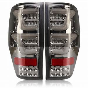 Led Car Tail Light With Bulbs Wiring Smoked Cover For Ford