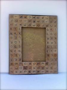 scrabble letters picture frame crafts for our home With letter a picture frame