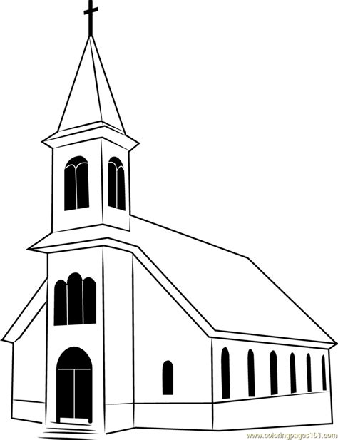 st ignatius church coloring page  church coloring pages coloringpagescom