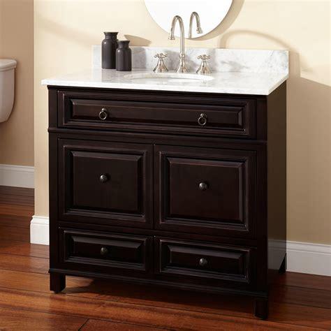 36 vanity with sink 36 quot orzoco vanity for undermount sink espresso
