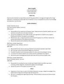 Telemetry Nurse Resume Template