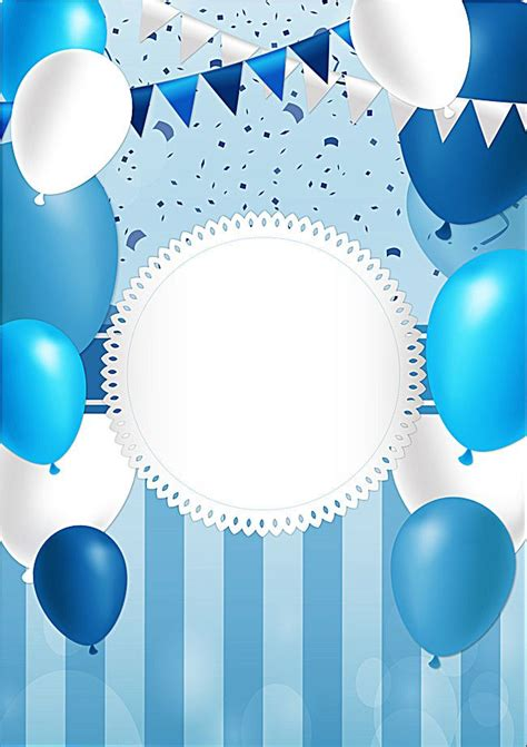 blue balloon festival poster happy birthday wallpaper