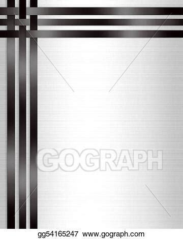 stock illustrations formal invitation template black